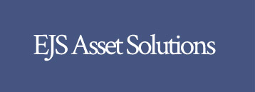 EJS Asset Solution text in white on a blue background